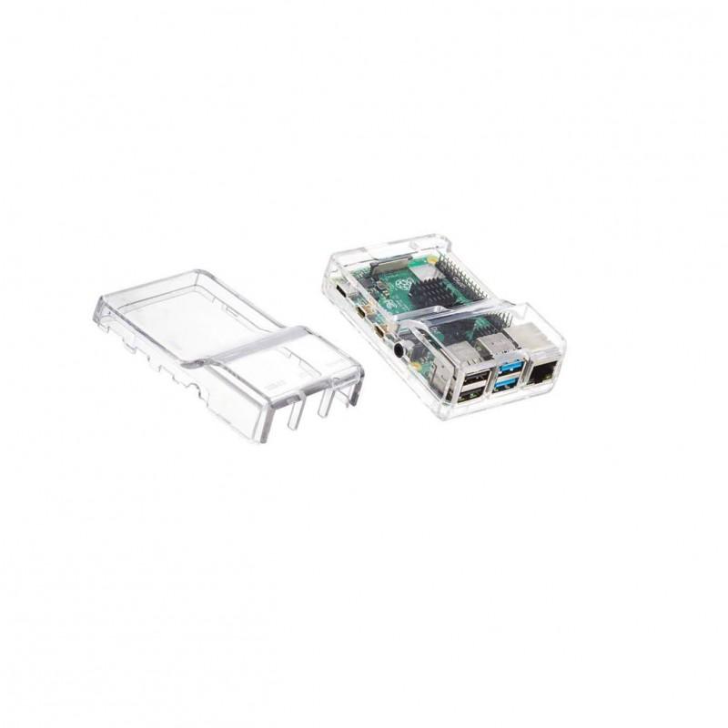 Raspberry Pi 4 Model B-2GB RAM transparent cover combination