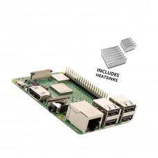 Raspberry Pi 3 B + (B Plus) with 2 aluminum radiators