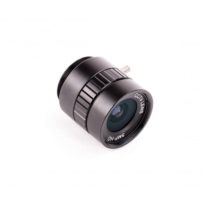 Raspberry Pi HQ camera has a 6 mm wide Angle lens